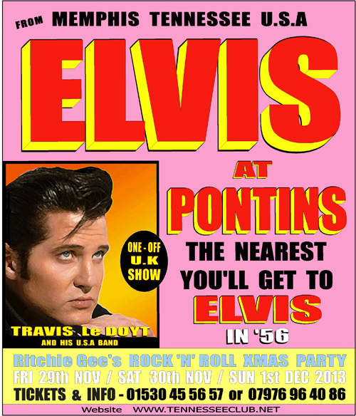 Elvis at Pontins - Travis Le Doyt